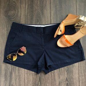 J. Crew 100% Cotton Chino Shorts in Dark Navy!